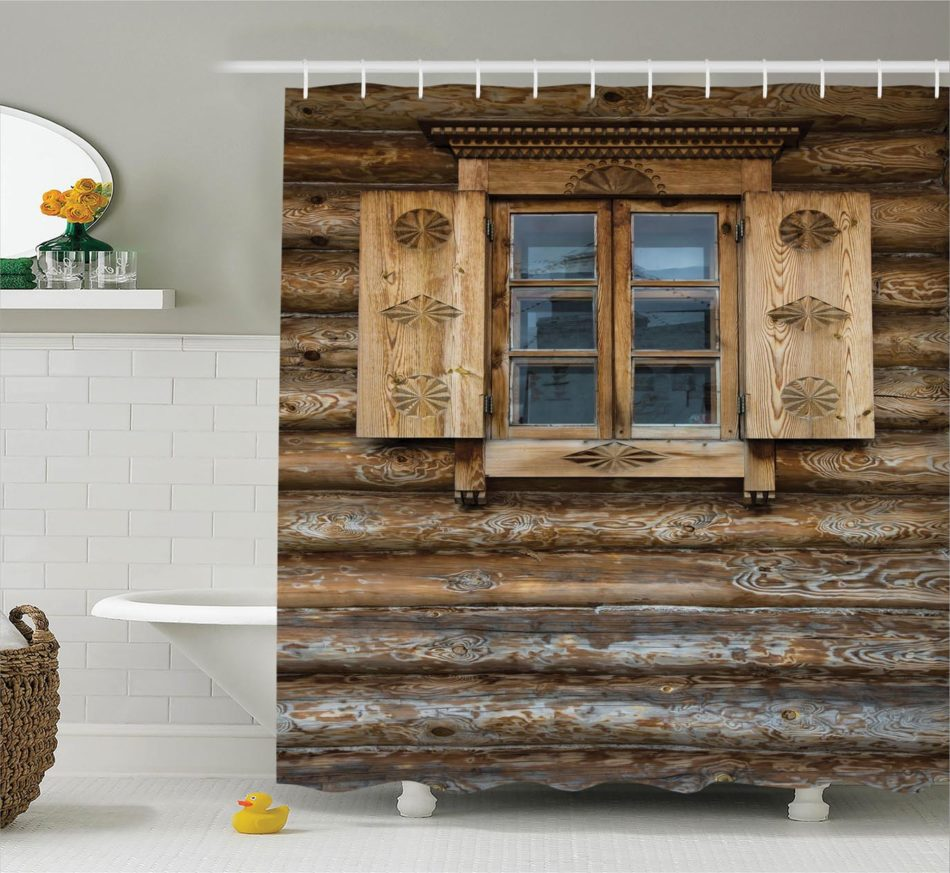 Unique Rustic Bathroom Design