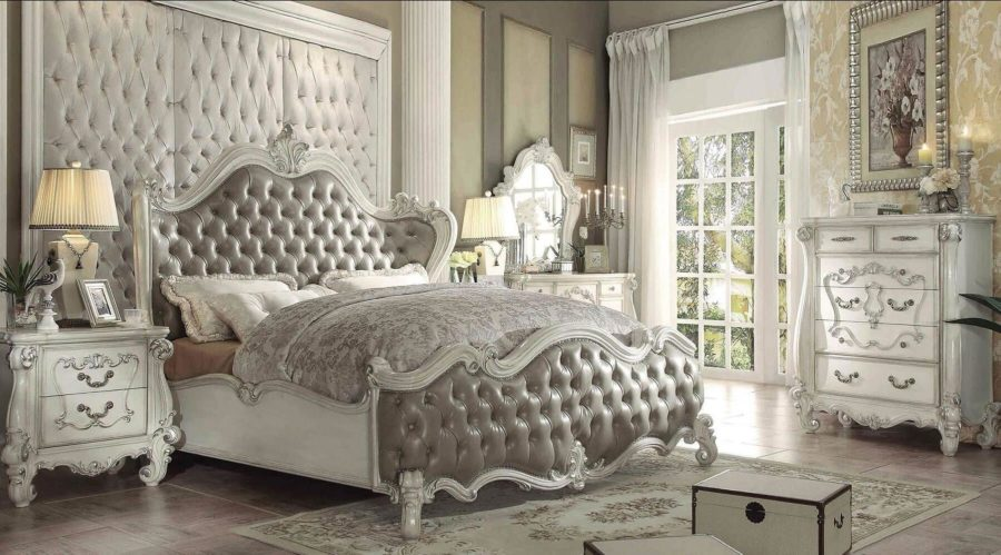 40 stunning grey bedroom furniture ideas designs and for Antique style bedroom ideas
