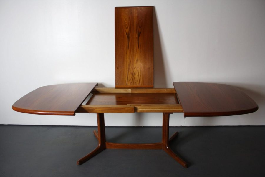 Danish Modern Teak Extension Dining Table
