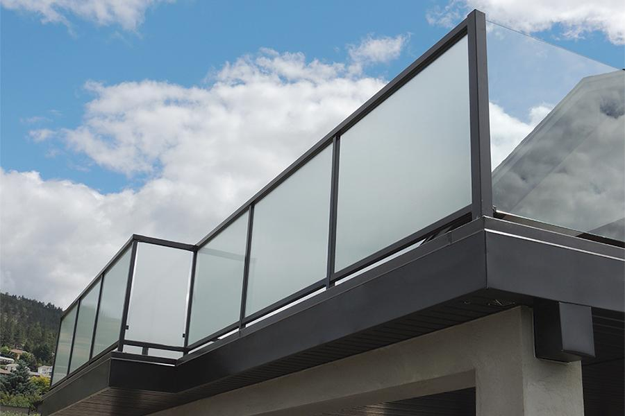 Glass Stair Railing Decoration Concept exterior glass railing systems
