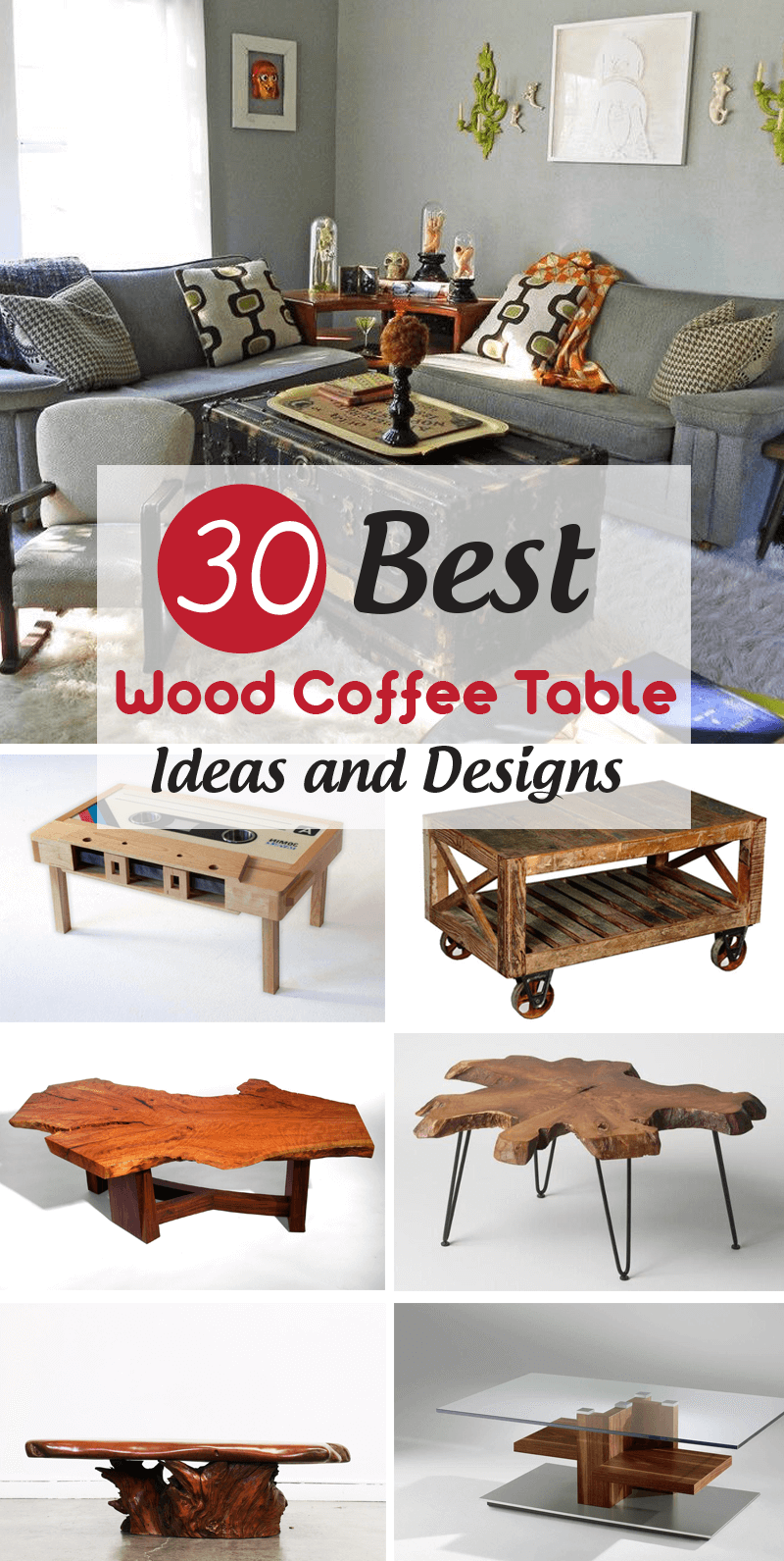 30 Distressed Rustic Living Room Design Ideas To Inspire: 30 Best Wood Coffee Table Ideas And Designs For Your Dream