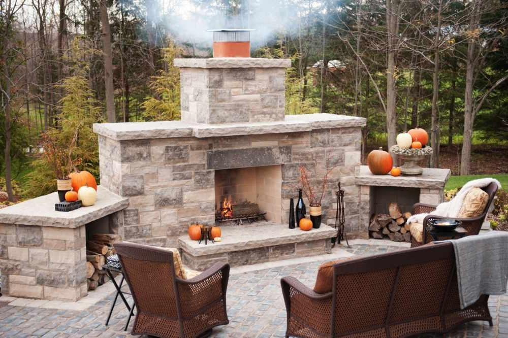 20 Outdoor Fireplace Ideas and Designs To Add a Touch of ... on Amazing Outdoor Fireplaces id=80723