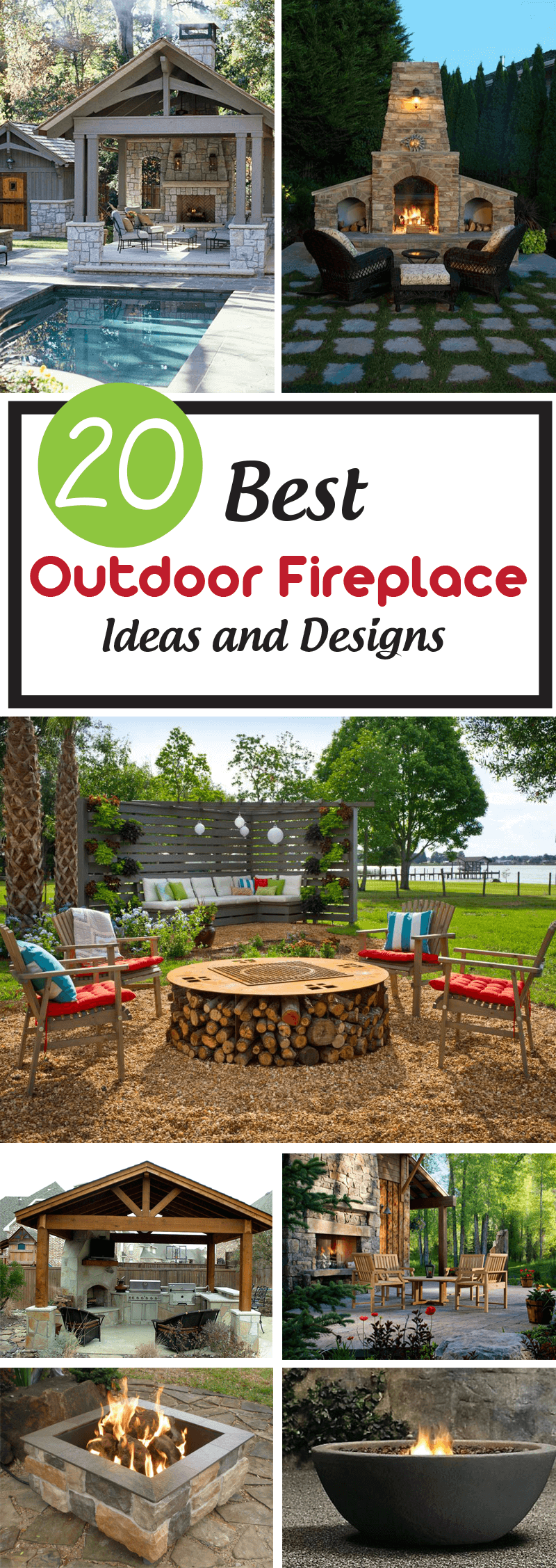 Best Outdoor Fireplace Ideas and Designs