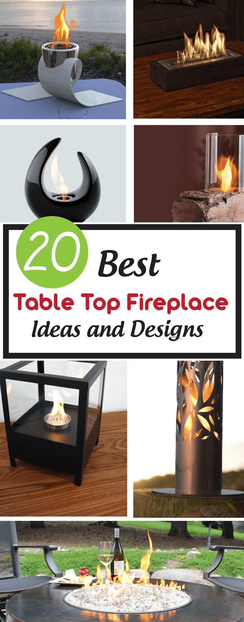 Best Table Top Fireplace Ideas and Designs