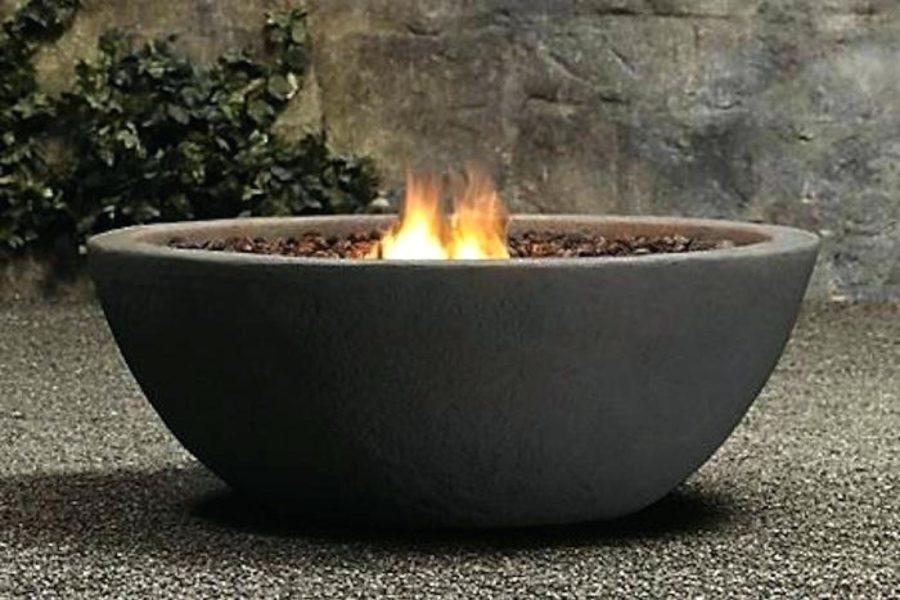 Bowl Pit Fireplace Design Idea