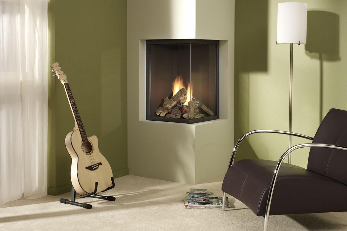 Contemporary Electric Fireplace With Media Console