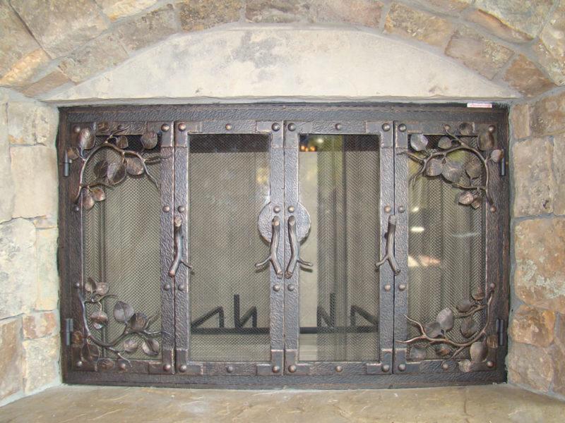 Custom Door To Custom Fireplace