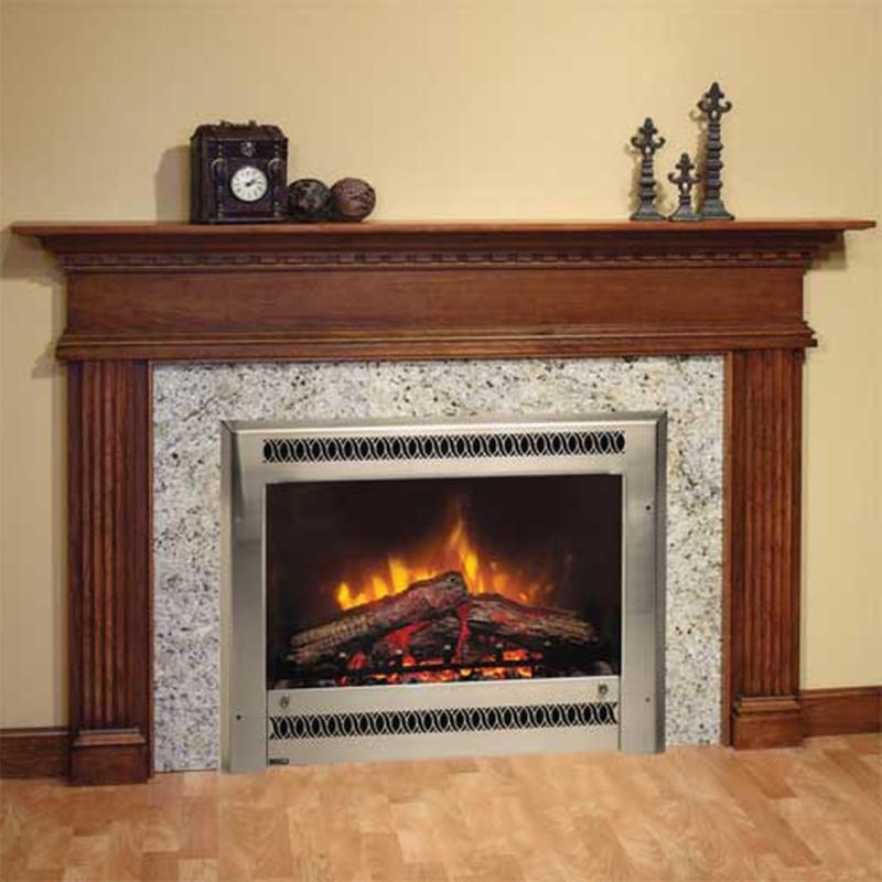 DIY Electric Heater Fireplace Design Idea