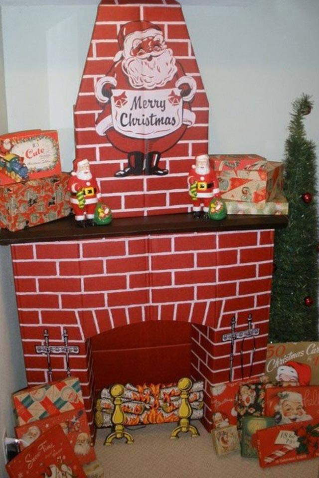 DIY Fake Fireplace Design