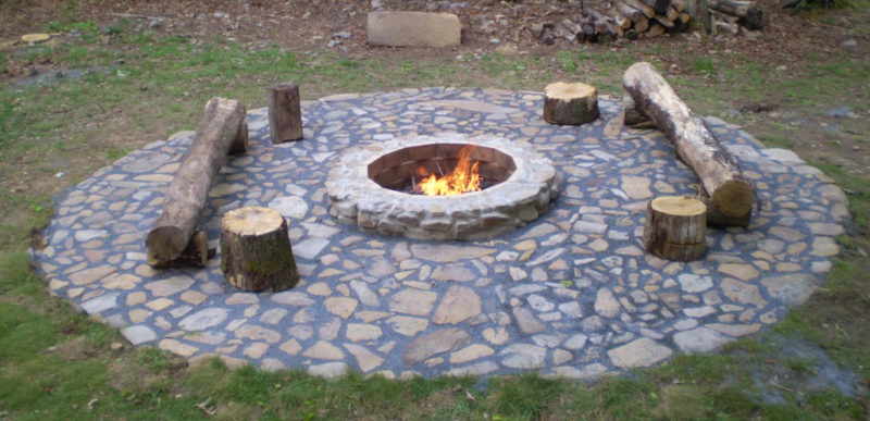 Dug in Fire Pit Fireplace