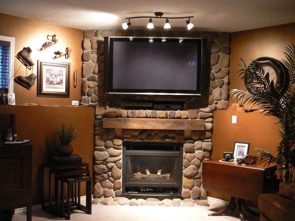 Fake Rock Fireplace Design Ideas