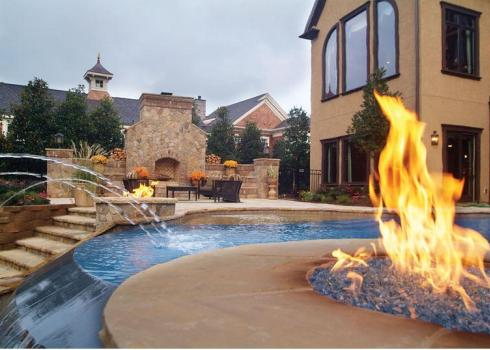 Fireplace into the Pool