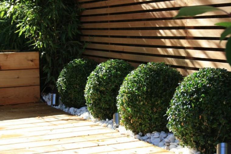 Hedge Round Wood Teak