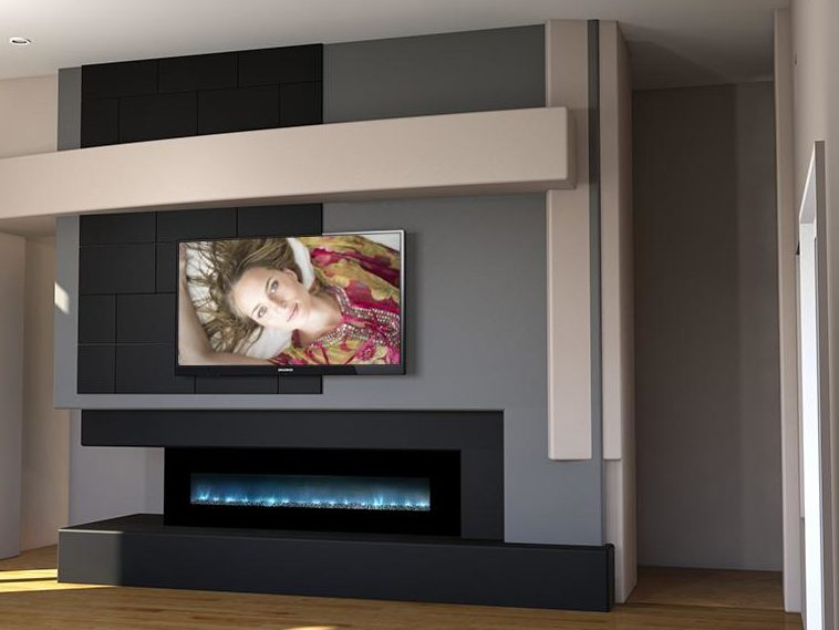 Luxurious Fireplace With Media
