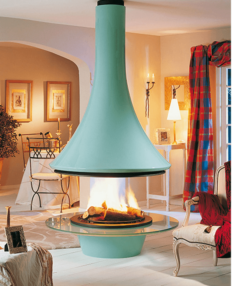 Pastels-Fireplace