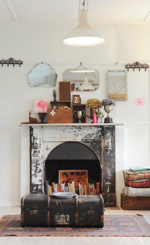 Retro Fireplace Design Idea