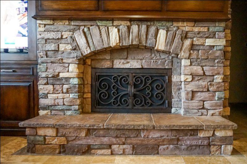 Rock Fireplace Treatment