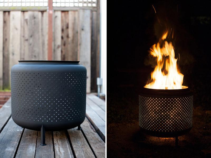 Rotting Drum Fireplace Design idea