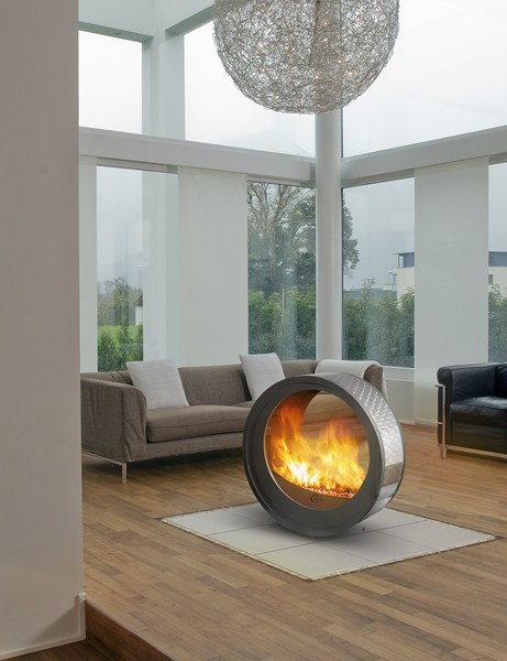 Round Fireplaces