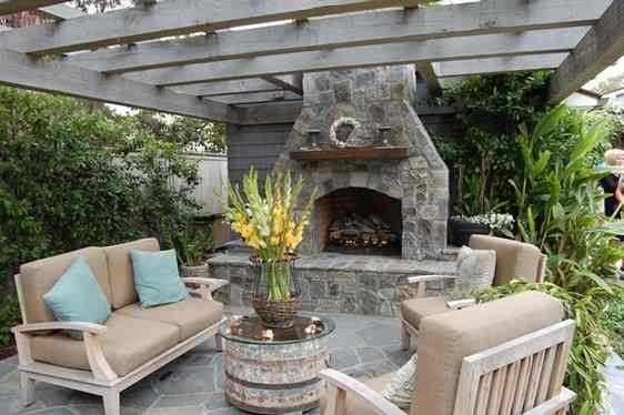 Seating Space Fireplace Design Ideas