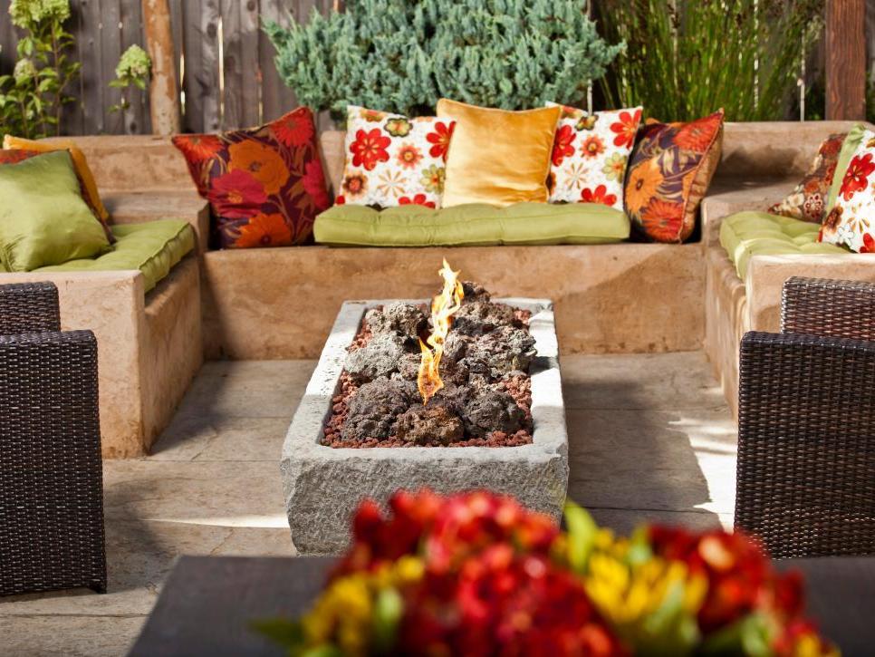 Simple Outdoor Fireplace Idea