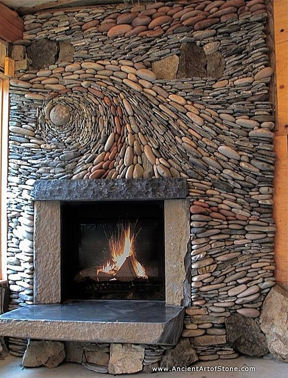 The Cobblestone Fireplace