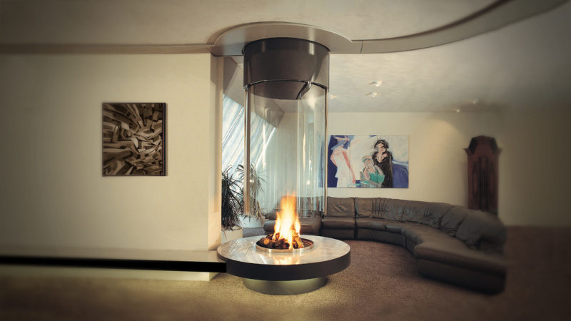 The Glass Tube Fireplace