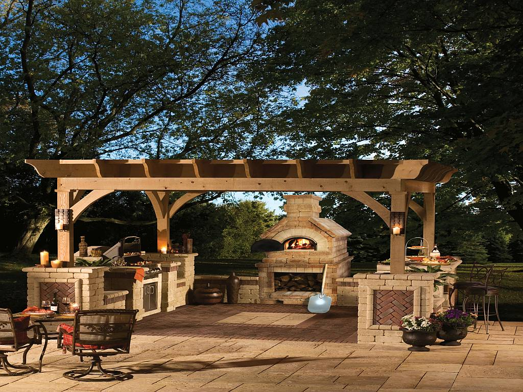 The Pergola Pavilion design for perfect yard fireplace