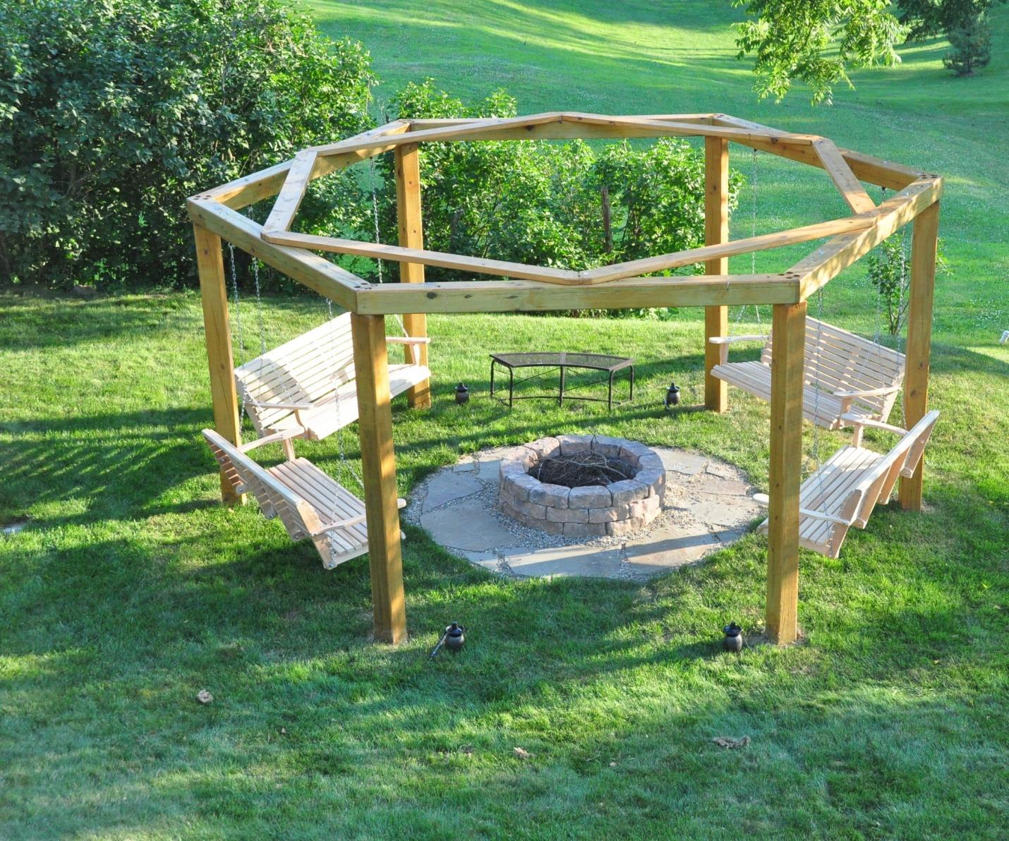 The Semi Gazebol Effect for outdoor fire pit
