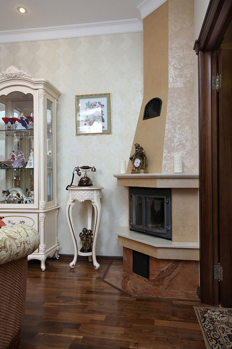 Traditional Corner Victorian Fireplace