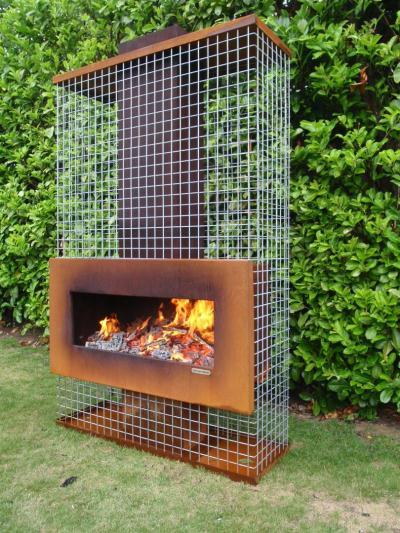 Unique Trellis fireplace