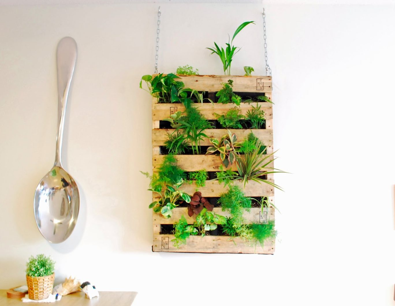 Vertical Pallet Planter For Wall