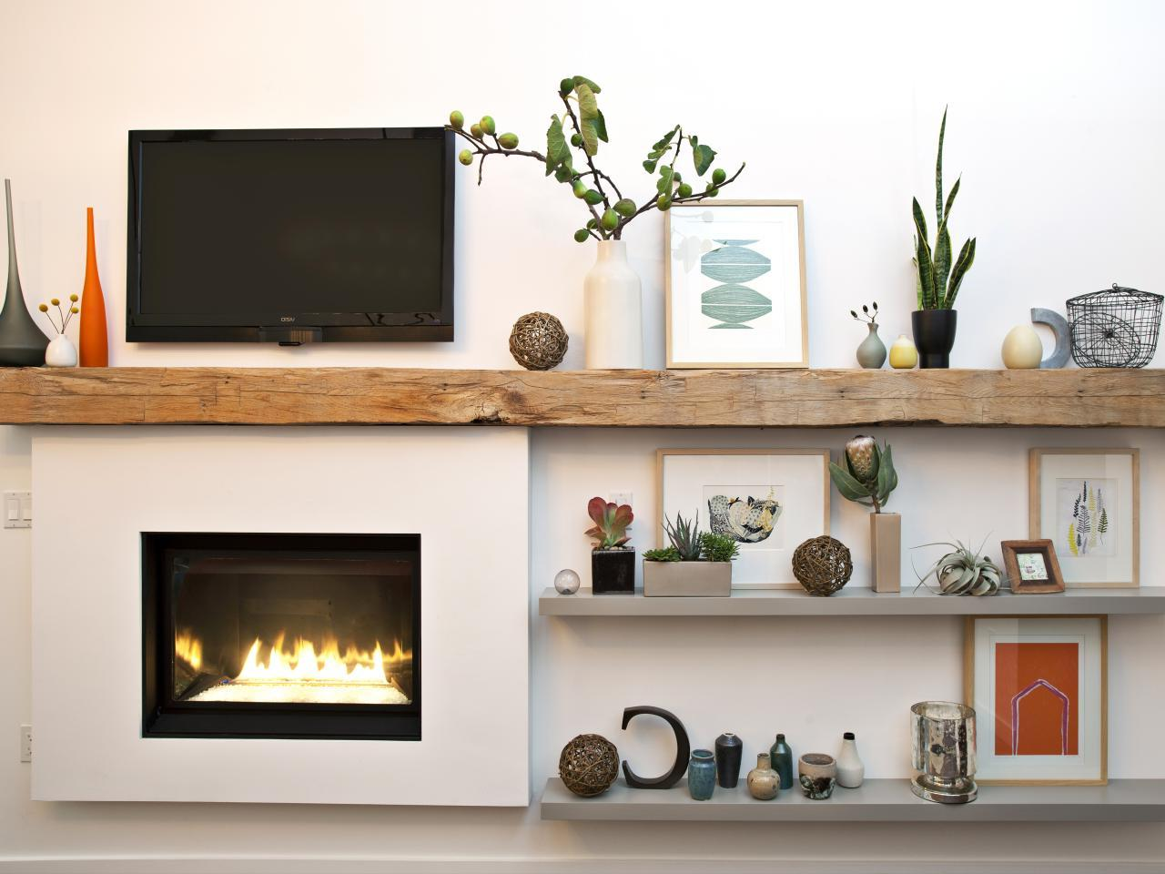 Wall Fireplace With LCD TV