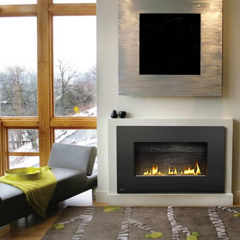 Winter Ventless Gas Fireplace