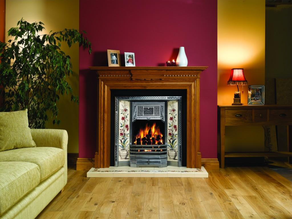 classical victorian fireplace
