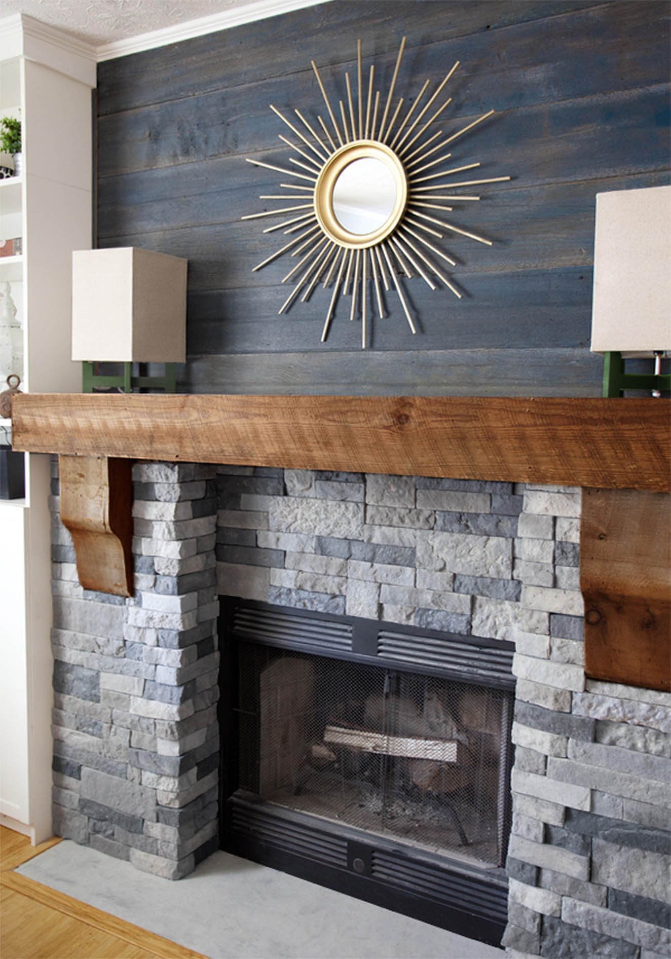 fireplace mantel painting ideas