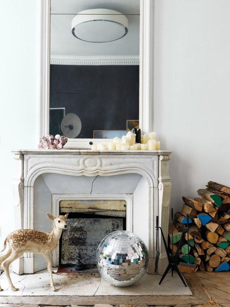 french style fake fireplace ideas