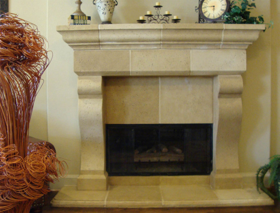 luxurious marble fireplace with nice chandleier
