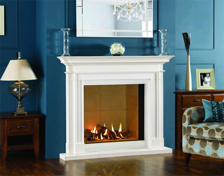 minimal fake fireplace