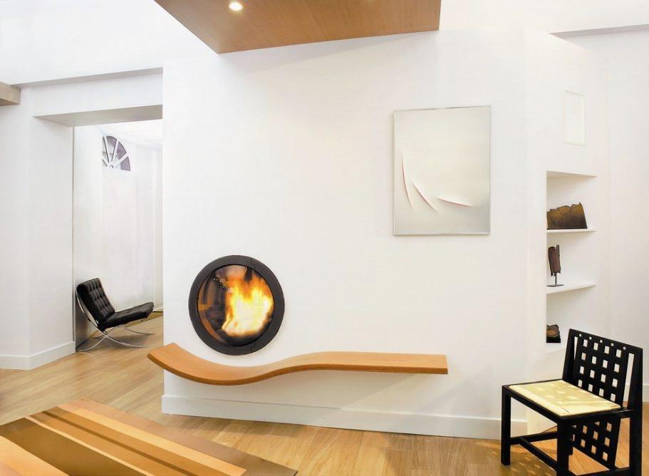 modern fake wall fireplace