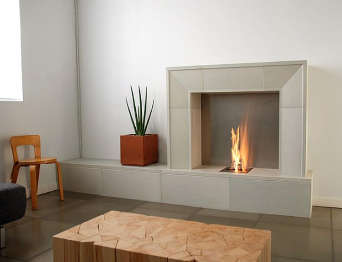 modern minimalist gas fireplace