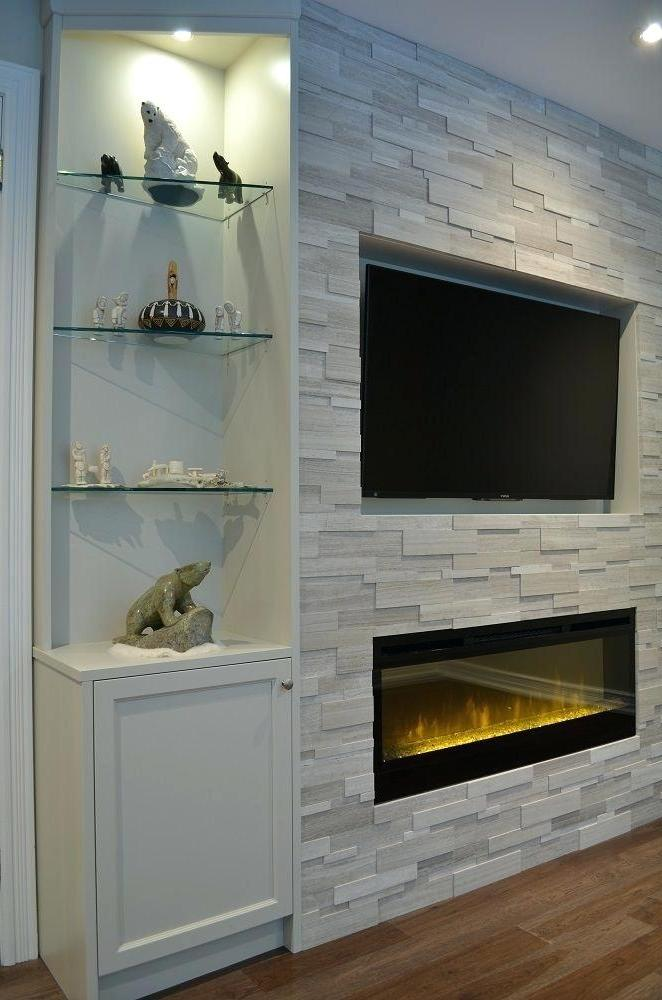 remodeling ideas with fake electric fireplace