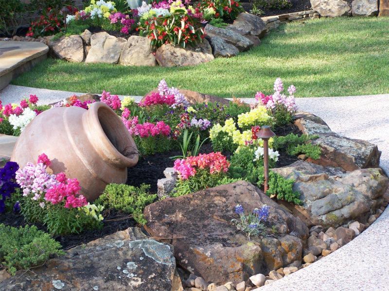 rock flower garden ideas
