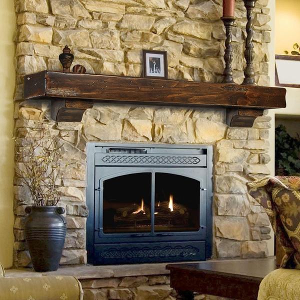 shelf wood fireplace mantel