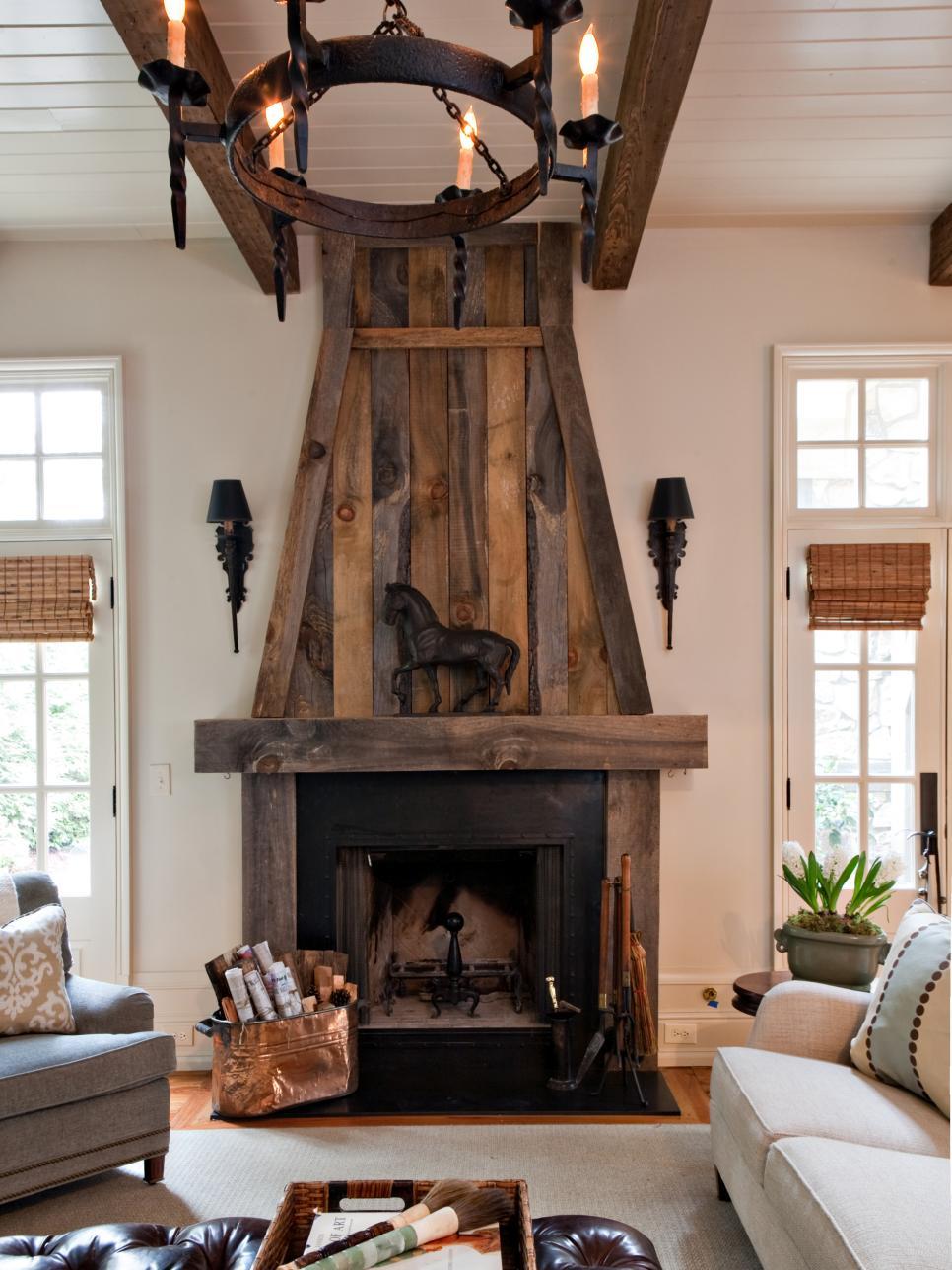 texture fireplace