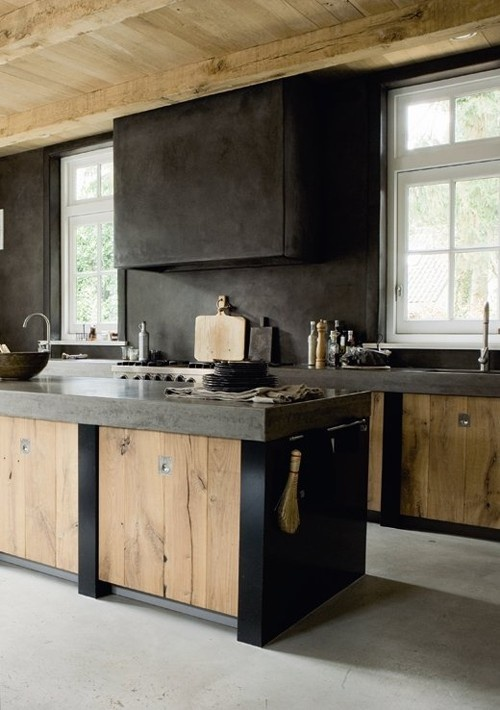 matte-black-and-wood