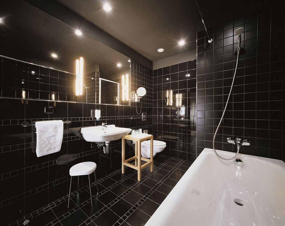 Bathroom With Stylish Lighting