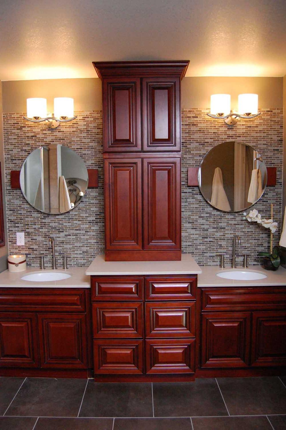 Cherry Bathroom Cabinets