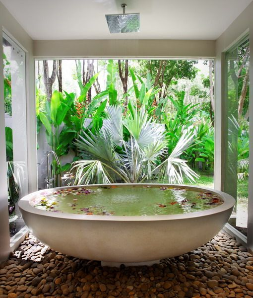 Outdoors Into Your Bathroom