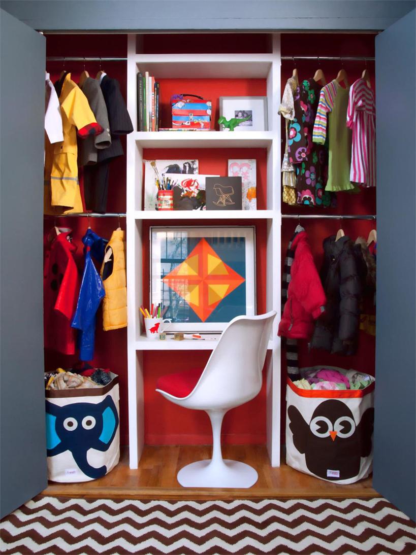 A Dual Purpose Kids Closet